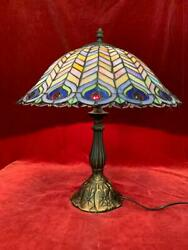 Vintage Tiffany Style Desk Light Stained Glass Table Lamp Lighting
