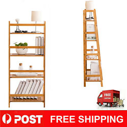 Bookshelf Tall Display Cupboard Storage Wooden Office Home Unit Rack 4 Shelves