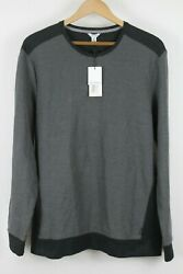 NWT Calvin Klein Mens Grey Combo Dressy Refined Pullover Sweater Sz Large