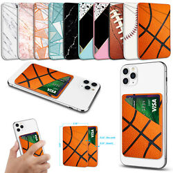 Adhesive Leather Credit Card Pocket Sticker Pouch Holder Case For Cell Phone