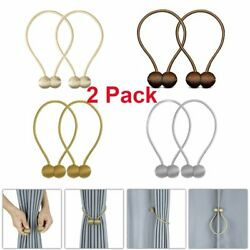 2Pcs Magnetic Ball Curtain Buckle Holder Tieback Clips Window Accessories U.S.A $6.48