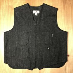 Woolrich Men's Charcoal Gray 2XL Four Pocket Adjustable Back Zip Up Vest