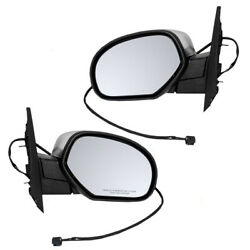 Pair Power Side Mirrors Heated Chrome Cover for Chevy GMC Cadillac SUV Pickup $79.35