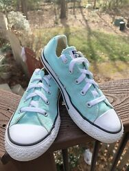 Converse Chuck Taylor All Star Youth Size 3 Teal Blue Aqua Canvas Low Top $25.00