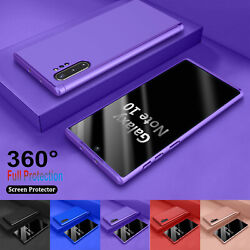 For Samsung Galaxy Note 10 Plus 360° Shockproof Case Cover Tempered Glass $4.58