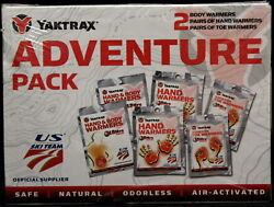 Yaktrax Adventure Pack Warmers 2 Body 2 Hand Pairs 2 Toe Pairs Air Activated New $9.99