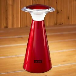 Uline Wireless Desk Touch-Top 12 LED Lamp Light Lantern Camping Patio Red New
