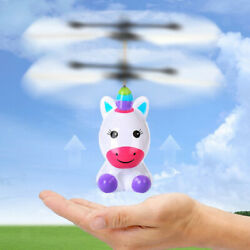 Magic Flying Unicorn Induction Colorful RC Helicopter Toy Gifts for Kids $11.78