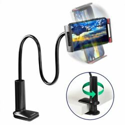360 Flexible Long Arm Bed Desk Lazy Phone Holder Mount Stand Universal C-Clamp $9.49