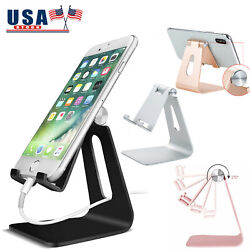 Cell Phone Tablet Desk Stand Aluminum Table Holder Cradle Dock for iPhone iPad $8.95