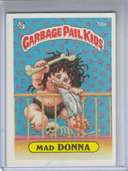 1985 Topps Garbage Pail Kids Card #50a Mad DONNA ( Glossy ) ( 2 Star Back ) $3.99