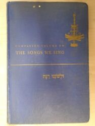 Companion Volume to the Songs We Sing by The United Synagogue Commission $9.95