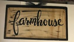 FARMHOUSE country kitchen primitive wall decor rustic wood sign 7x12quot; $9.99