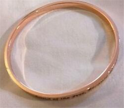 Patriotic Bangle Bracelet Faux Rose Gold quot;Land of Free Because of the Bravequot; WOW $6.99
