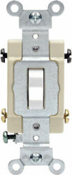 LEVITON SWITCH 4 W 15A WHITE