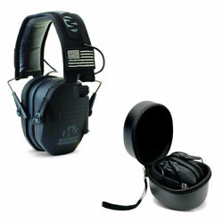 Walkers Razor Slim Electronic Ear Muffs Black Patriot amp; Storage Carrying Case $67.99