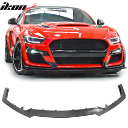 Fits 15-17 Ford Mustang GT500 Style Front Bumper Lip Spoiler - PP Polypropylene $219.99