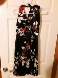NWT WINDSOR Black Red White Junior Party Day Dress Size Small $3.15