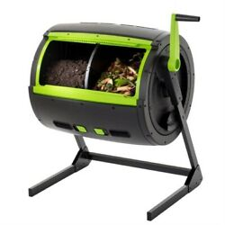 Fast Furnishings Rotating 65 Gallon Compost Bin Tumbler with 2 Compartments $398.76