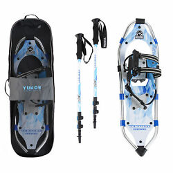 Yukon Charlie#x27;s Advanced 8 x 25 Inch Women#x27;s Snowshoe Kit with Poles and Bag $209.99