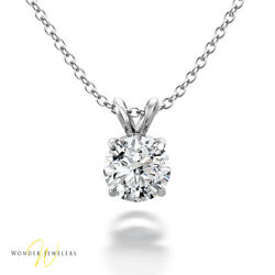 0.82 Carat GIA Round Diamond Solitaire Necklace Pendant 14K Gold (1255877846)