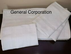 24 Bath Towels Hotel Motel SPA Salon GYM Towel White 20X40 inch 100% Cotton $32.65
