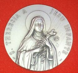 St. Theresa Silver-plated Brass Medal - Made in Milan Italy Stamped $14.99