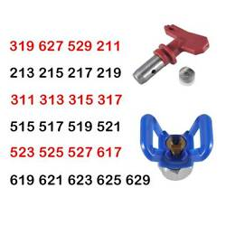 Airless Paint Spray Gun Tip Nozzle and Guard for Sprayer Painter Blue $8.99