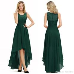 Women Long Lace High Low Cocktail Dresses Prom Gown Bridesmaid Wedding Dress US $37.39