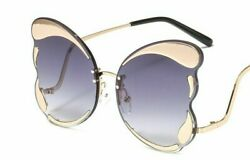 Women Men Vintage Brand New Fashions Butterfly Sunglasses Color Lens Sexy Luxury $9.49