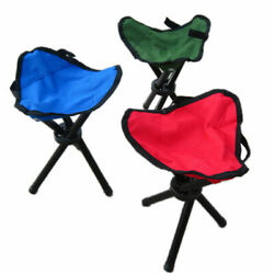 US Outdoor Mini Camping Fishing Travel Foldable Tripod Folding Seat Stool Chair $13.29