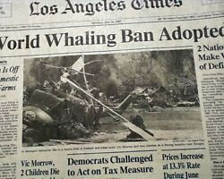 Best TWILIGHT ZONE: THE MOVIE Actor Vic Morrow Helicopter Accident1982 Newspaper $64.00