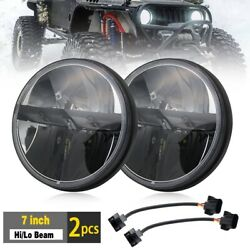 Pair 7 Round HiLo DOT Sealed LED Headlight Headlamp for Jeep Wrangler CJ TJ JK $98.99
