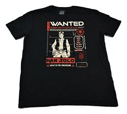 Funko Pop Mens Star Wars Wanted For Smuggling Han Solo Shirt New XS 3XL $9.99