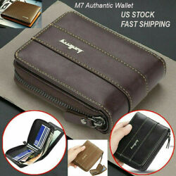 Men Men#x27;s Leather Wallet ID Credit Card Holder Clutch Bifold Pocket Zipper Coin $10.99