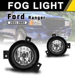 Fits 01-03 Ford Ranger Fog Lights Bumper Driving Lamps Pair Clear Le $37.99