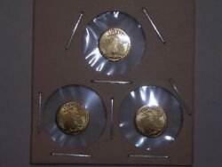 1907 MINI ST GAUDENS GOLD COINS 1 2 GRAM BULLION x3 for one money $9.15