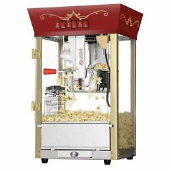 Red Antique Style Popcorn Popper Machine 8 Oz Counter Top Table Bar Top $170.99
