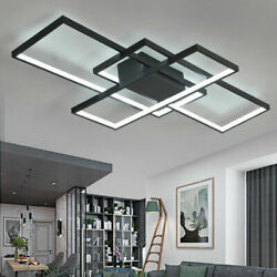 Modern Square acrylic LED ceiling light living room lighting chandelier w Remote