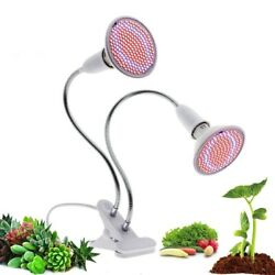 LED Grow Light Flexible Metal Hose Clip-On 220V E27 Full Spectrum Lights Indoor $20.99