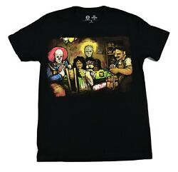 Get Down Art Mens Final Table Pennywise Leatherface Hellraiser Shirt New S-4XL $6.99