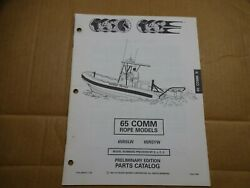 1994 OMC 65 HP commercial rope outboard parts catalog Johnson Evinrude 436416