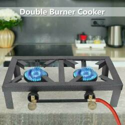 Portable Camping Stove Double Cast Angle Iron Burner Propane Tank Gas BBQ Cooker $30.99