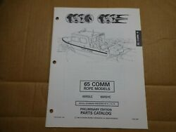 1995 OMC 65 HP commercial rope outboard parts catalog Johnson Evinrude 437442