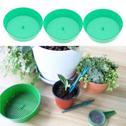 3pcs Plastic 21cm 3mm Garden Sieve Riddle Sifter Green Compost Mesh Tool $10.92