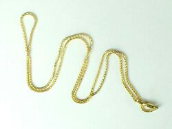 LONG 14K yellow gold Wheat link chain necklace..24.5quot;..1.5mm..5.2gm.. $279.89