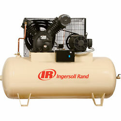 Ingersoll Rand Electric Stationary Air Compressor- 10 HP 35 CFM At 175 PSI 230Vs