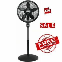 FAN CYCLONE STAND PEDESTAL Remote Control Floor Electric Oscillating 3 Speed 18