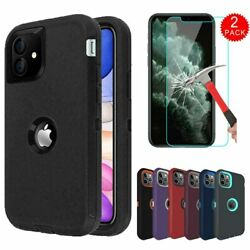 For iPhone 11 11 Pro 11 Pro Max Hybrid Armor Rugged Case CoverScreen Protector $6.99