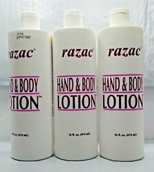 PACK OF 3-RAZAC Hand & Body Lotion -16oz EACH  $29.89